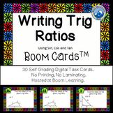 Writing Trig Ratios--Sine, Cosine and Tangent Boom Cards--Digital Task Cards