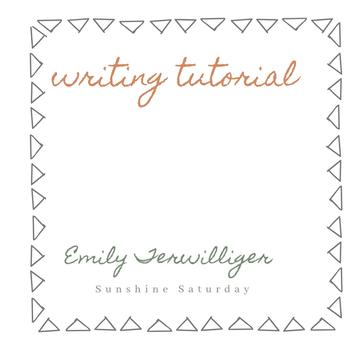 Writing Tutorial