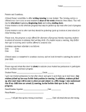 Writing Tutoring - Letter to Parents