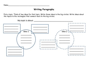 Writing Two Paragraphs Organizer