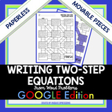 Writing Two-Step Equations Digital Maze Activity