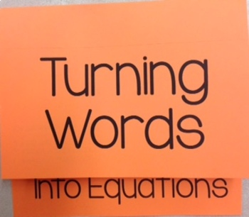 Writing Two-Step Equations Foldable