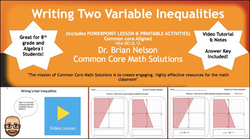 Writing Two Variable Inequalities - PowerPoint Lesson & Pr