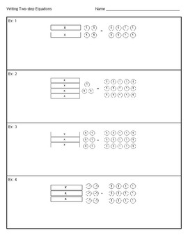 Writing Two-step Equations from models