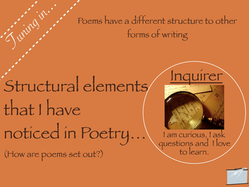 Writing: Understanding Poetry - a lesson guide