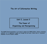 Writing Unit 2: The Art of Information Writing Grade 3 Lessons 6-20 PPT