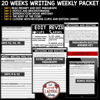 Writing Practice 4th Grade [Daily Skill Practice for Test Prep]