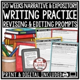 Writing Test Prep 4th Grade -Grammar, Revising & Editing Writing Test Prep ELA