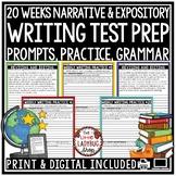 Writing Test Prep 4th Grade -Grammar, Revising & Editing Writing Test Prep ELA