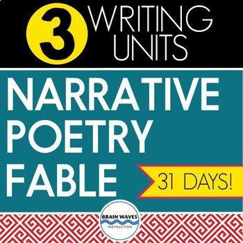 Narrative Writing, Poetry Writing, and Fable Writing Units (Google Compatible)