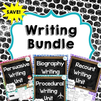 Writing Unit Bundle Distance Learning