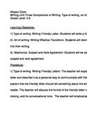 Writing Unit II Grades 3-5