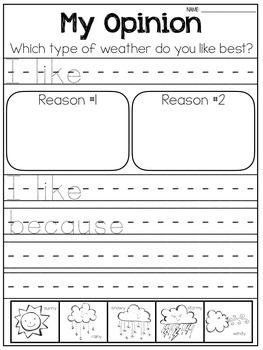 Writing Unit - Weather & Seasons