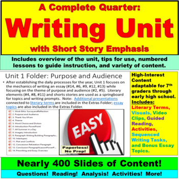 Writing Unit with Short Story Emphasis