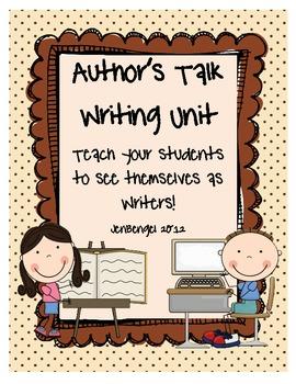 Writing Unit...Creating an Author Talk