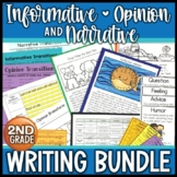 Writing Units 2nd Grade Narrative Opinion Informative Explanatory Bundle