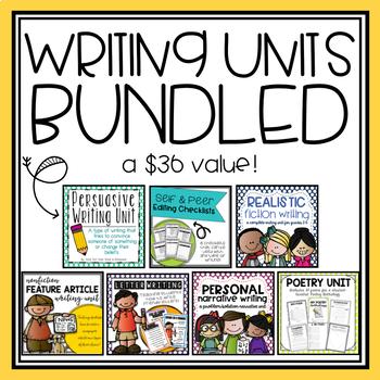 Writing Units BUNDLED-YEAR LONG!