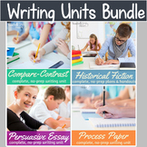 Writing Units Bundle for middle school (editable, scaffolded)