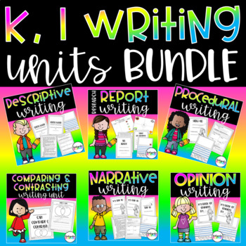 Writing Units THE BUNDLE Kindergarten, 1st Grade Packets Distance Learning