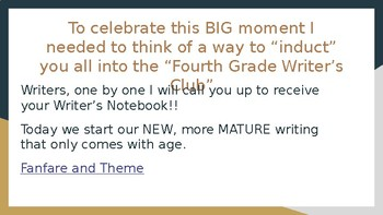 Writer's Workshop - 4th Grade Narrative - Unit 1 Session 1