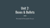 Writing Units of Study - Boxes & Bullets Opinion Slides