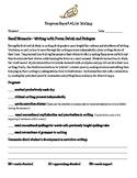 Writing Units of Study First Grade Parent Progress Report Bundle