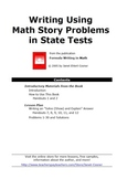Writing Using Math Story Problems in State Tests