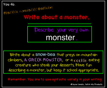 Writing Process :  Using Syntactic Variety for Promethean Board