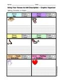 Writing - Using Your Senses to Add Description - Graphic Organizer