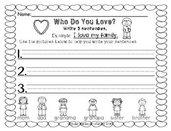 Writing-Valentine's Simple Sentences