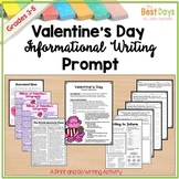 Valentine's Day Writing Prompt:  Write to Inform  Testing Prompt FSA Writing