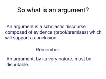 Writing Valid Arguments