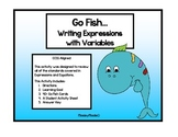 Writing Variable Equations- Go Fish Game CCSS 6.EE1 and 6.EE.2a
