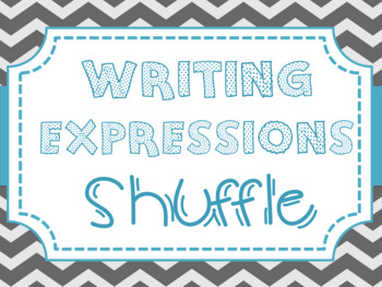 Writing Variable Expressions {Silent Shuffle}