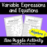 Writing Variable Expressions and Equations - Puzzle Activity