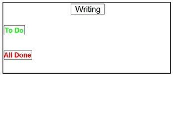 Writing - Visual Sequence Schedule