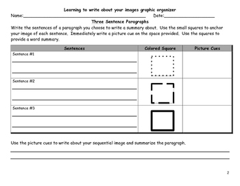 Visualizing and Verbalizing: Writing about your Images Graphic Organizers