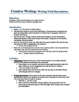 Writing Vivid Descriptions