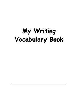 Writing Vocabulary Book