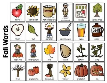 Writing Vocabulary Cards {Fall Edition}