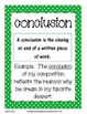 Writing Vocabulary Cards - Polka Dots Pattern