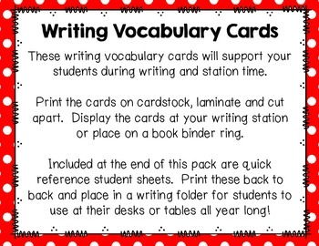 Writing Vocabulary Cards {Sports & Fitness Edition}