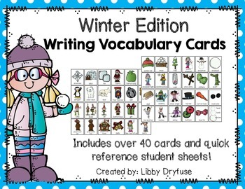 Writing Vocabulary Cards {Winter Edition}