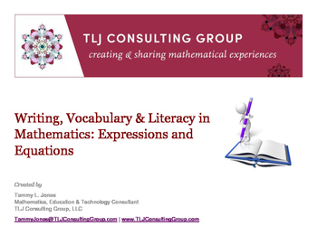 Writing, Vocabulary & Literacy in MS Mathematics: Expressi