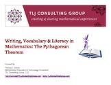 Writing, Vocabulary & Literacy in MS Mathematics: The Pythagorean Theorem