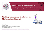 Writing, Vocabulary & Literacy in Mathematics: Geometry