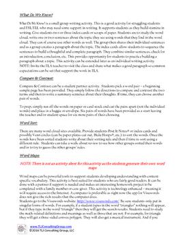 Writing, Vocabulary & Literacy in Middle School Mathematics