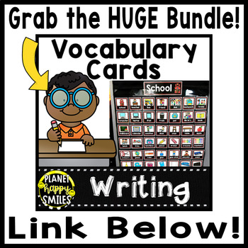 Writing Vocabulary Word Wall Cards Theme: Creepy Crawlers