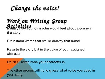Writing:  Voice Through Mood Lesson