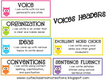 Writing VOICES Headers {FREEBIE}